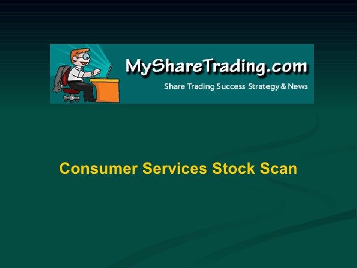 Consumer Services Stock Scan