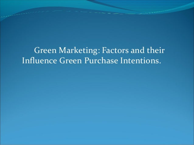 Green purchase intention thesis