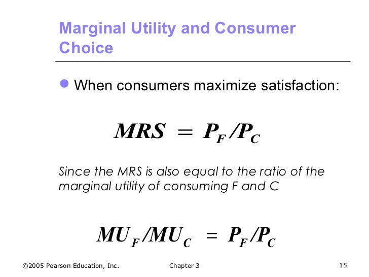 two elements of the theory of consumer choice The consumer chooses consumption of the two goods so that the mrs equals the ratio of  the theory of consumer choice  ithe test of a theory is in its .