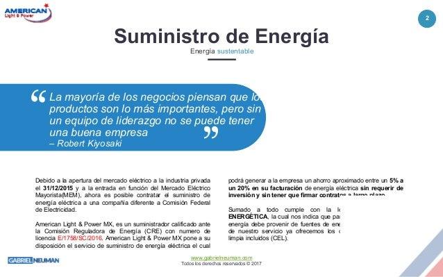 Suministro de energía eléctrica para Usuarios Calificados en México Slide 2