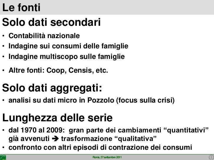 Consumi  in italia 2011 Slide 3