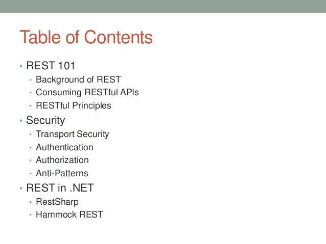 Consuming REST in .NET Slide 2