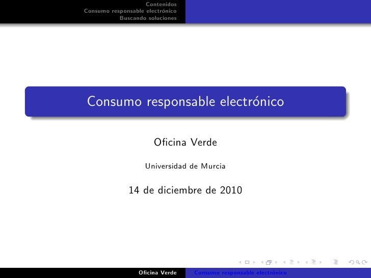 Consumo electrónico responsable