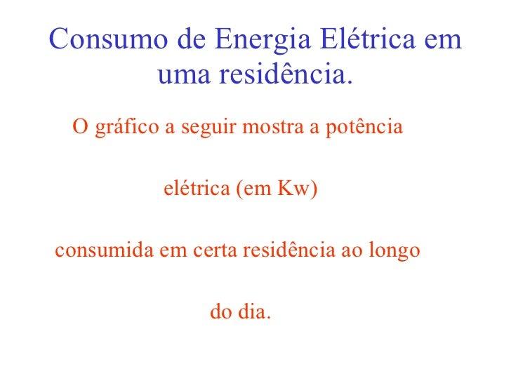 Consumo de Energia Elétrica em uma residência. <ul><li>O gráfico a seguir mostra a potência  </li></ul><ul><li>elétrica (e...