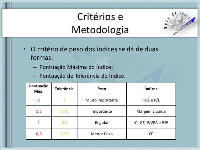 a383c193d91b9 Metodologia de Escolha - Setor Consumo 2016
