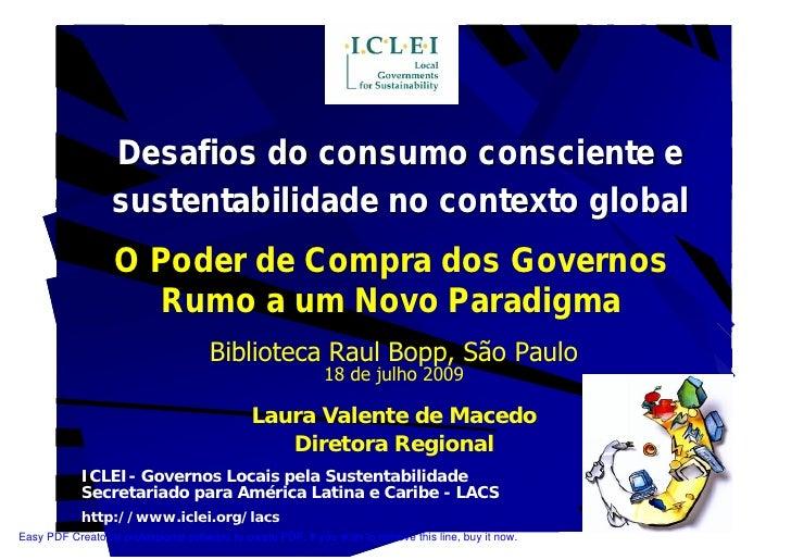 Desafios do consumo consciente e                   sustentabilidade no contexto global                    O Poder de Compr...