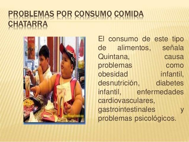 Consecuencias de la comida chatarra en los niños pdf