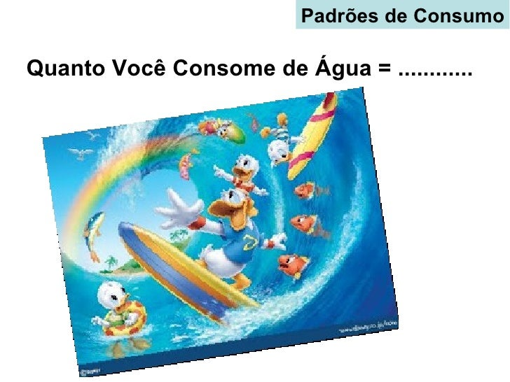 Padrões de ConsumoQuanto Você Consome de Água = ............