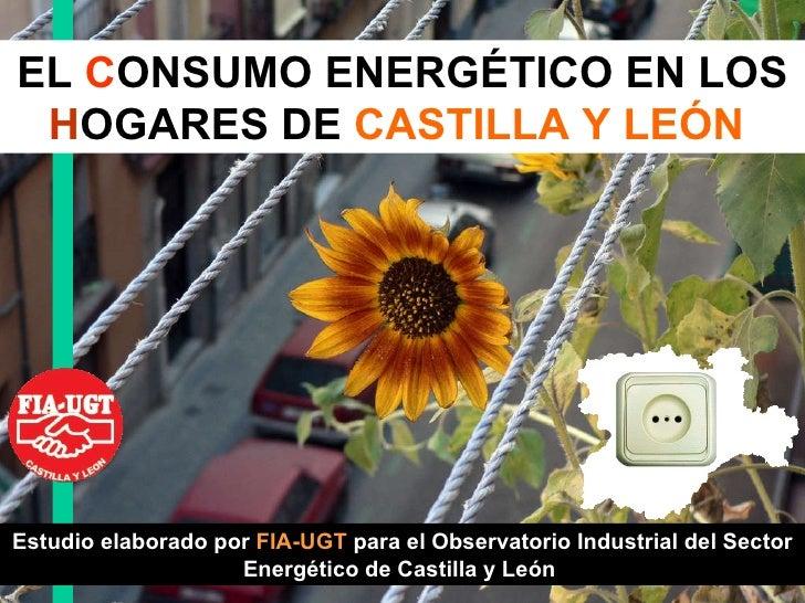 EL  C ONSUMO ENERGÉTICO EN LOS  H OGARES DE   CASTILLA Y LEÓN   Estudio elaborado por  FIA-UGT  para el Observatorio Indus...