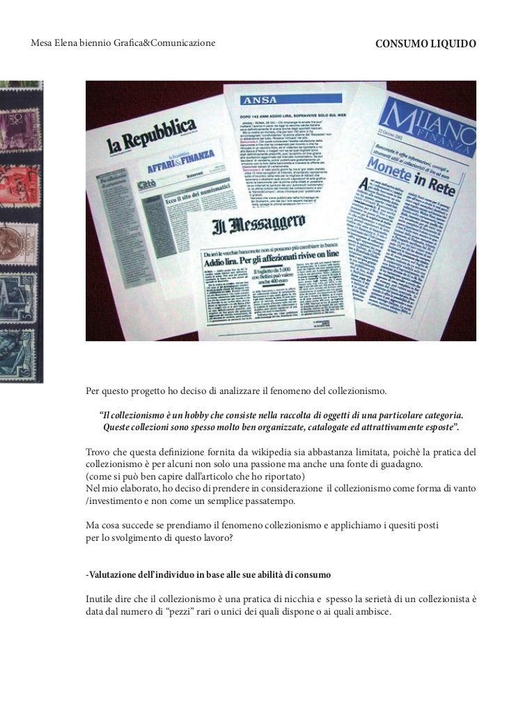 Mesa Elena biennio Grafica&Comunicazione                                               CONSUMO LIQUIDO           Per quest...
