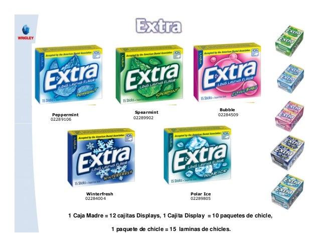 Bubble 02284509Peppermint 02289106 Spearmint 02289902 1 Caja Madre = 12 cajitas Displays, 1 Cajita Display = 10 paquetes d...
