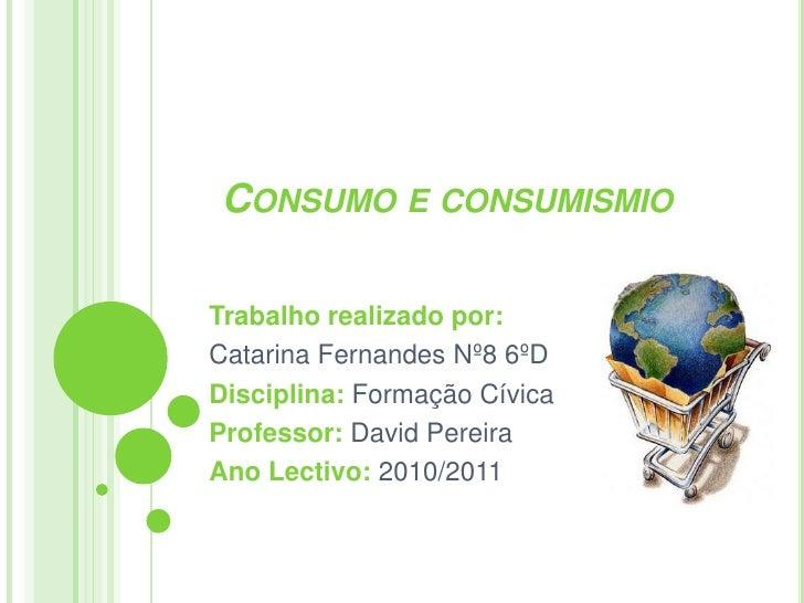 Consumo vs consumismo