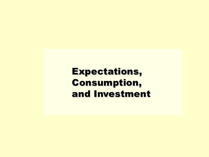 Expectations, Consumption, and Investment