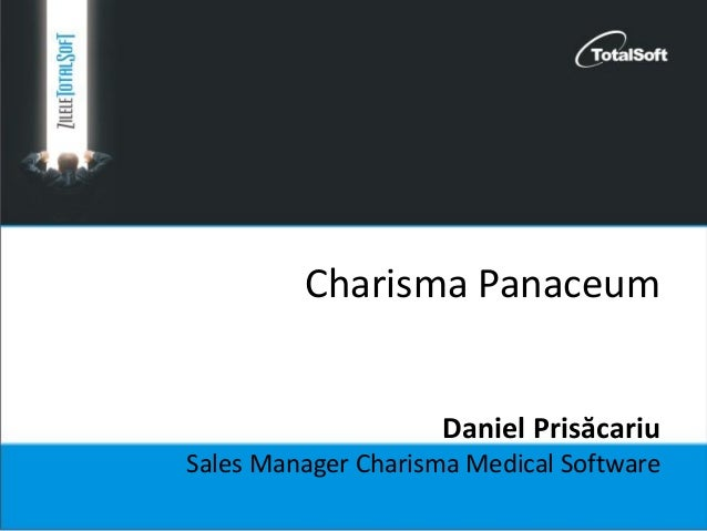 Charisma Panaceum Daniel Prisăcariu Sales Manager Charisma Medical Software