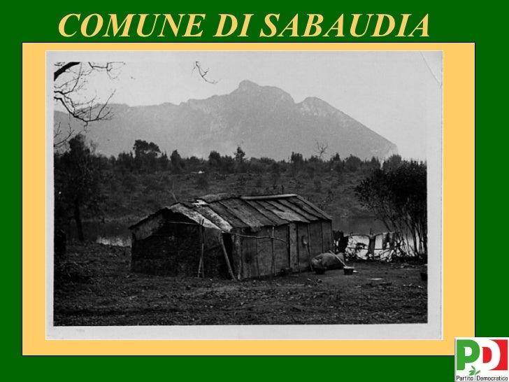 COMUNE DI SABAUDIA                     1