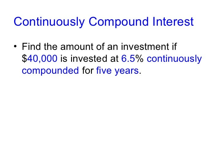 Bmw North Houston >> How to calculate continuously compound interest