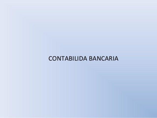 CONTABILIDA BANCARIA