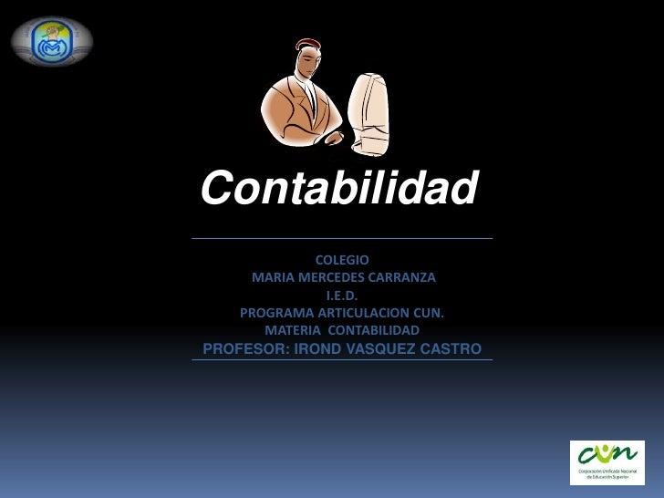 PRESENTACION DE CONTABILIDAD