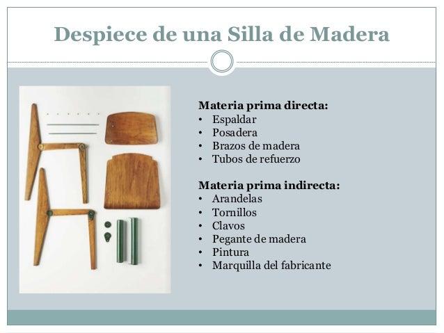 Contabilidaddecostos hacer 1 silla - Como se elabora una silla de madera ...