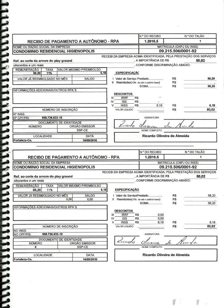 Prestação de Contas - Agosto 2010