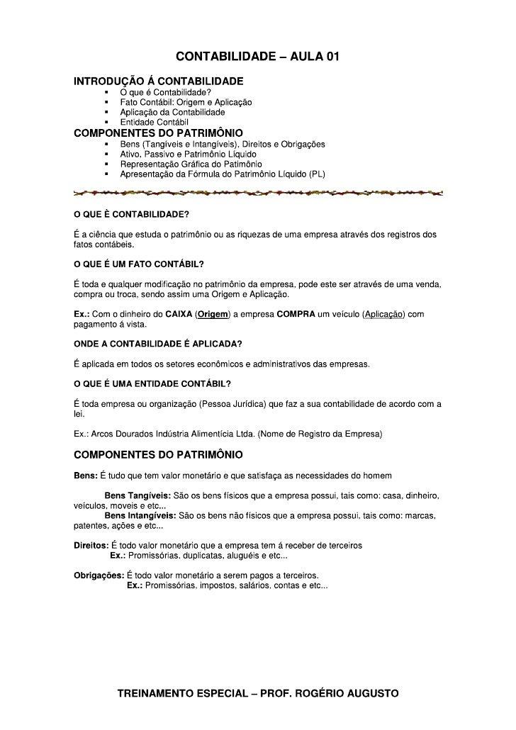 Contabilidade aula 01 conceitos