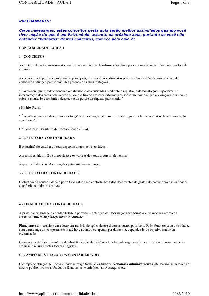 CONTABILIDADE - AULA I                                                                                        Page 1 of 3 ...