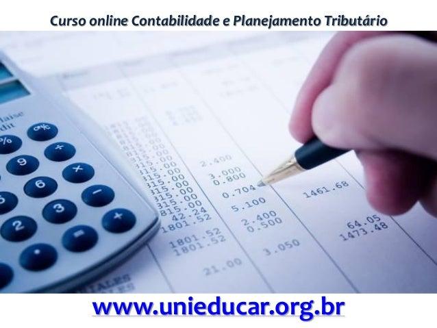 Curso online Contabilidade e Planejamento Tributário www.unieducar.org.br