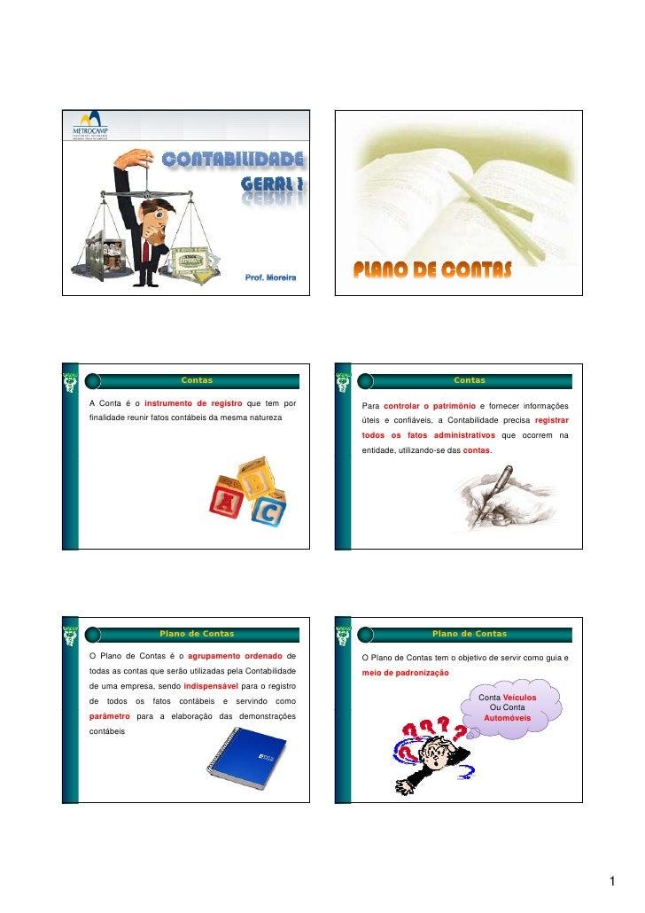 Contabilidade geral i cap 12   slides - plano contas