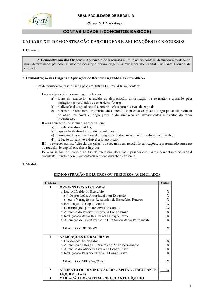 REAL FACULDADE DE BRASÍLIA                                               Curso de Administração                           ...