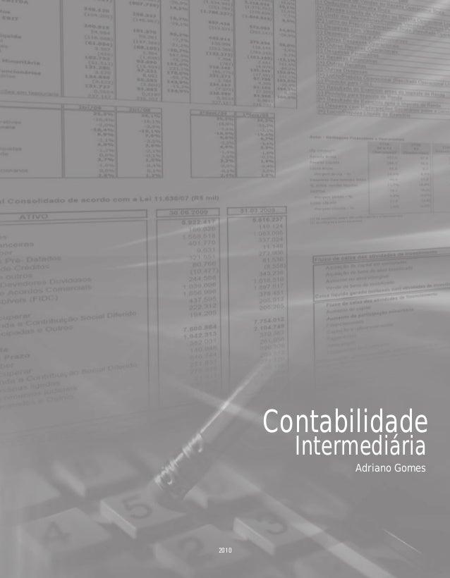 2010 Contabilidade Intermediária Adriano Gomes