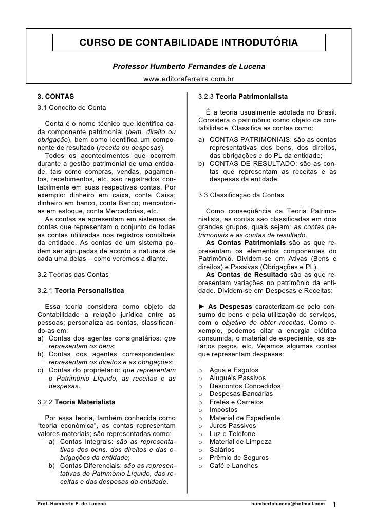 Contabilidade introdutoria 03 contas
