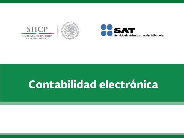 AT  Servicio de Administración Tributaria  SHCP  Contabilidad electrónica