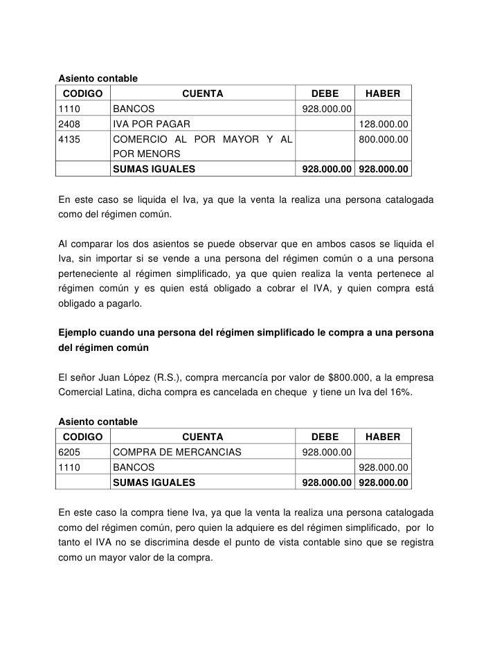 plan general contable contabilizar pago con cheque regalo