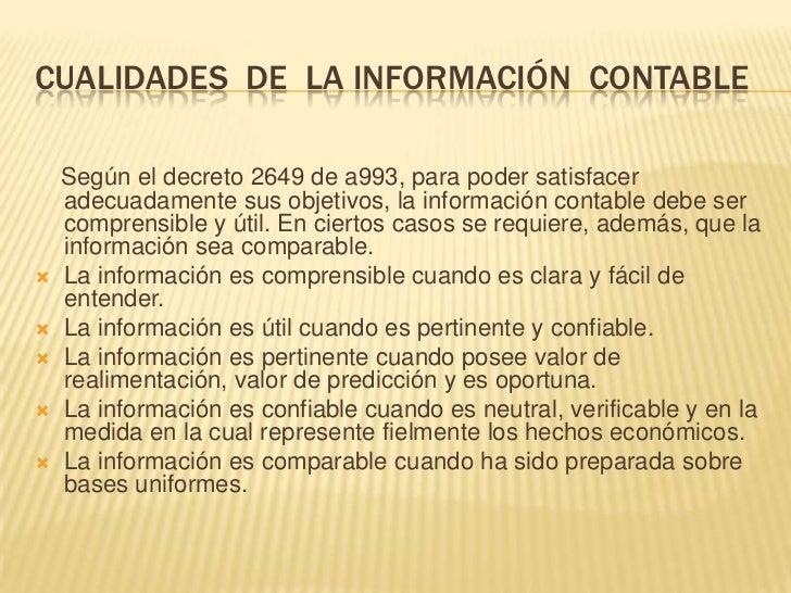 IMPORTANCIA DE LA CONTABILIDAD ENFUNCIÓN DE LOS USUARIOS DE LAINFORMACIÓN La contabilidad es de gran importancia porque to...