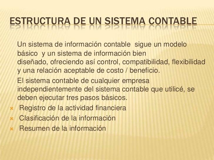 EL SISTEMA CONTABLE CUMPLE CON LASCARACTERÍSTICAS BÁSICAS DE LAS DEFINICIONES DESISTEMA:   SISTEMA ABIERTO: El sistema to...