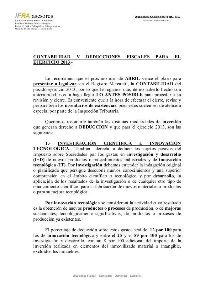 Asesoría Fiscal – Contable – Jurídica – Laboral IFRA asesores Asesores Asociados IFRA, S.L. Fructuoso Rodenas Flores – Eco...