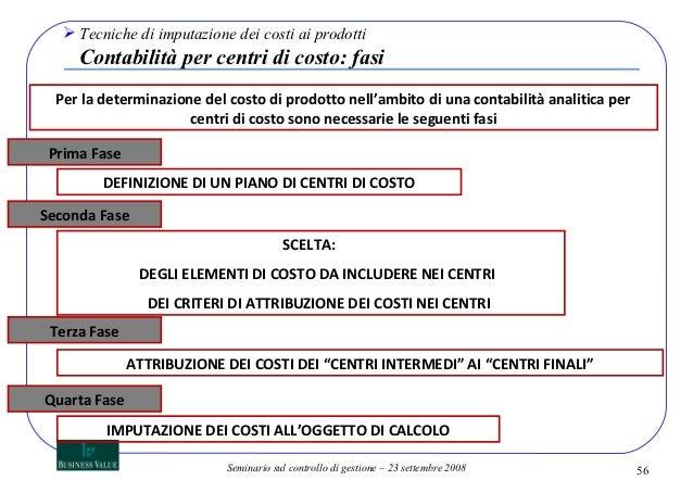 Contabilit dei costi seminario 2008 for Piano di costi 1876