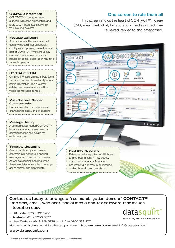 CRM/ACD Integration                                                                                           One screen t...