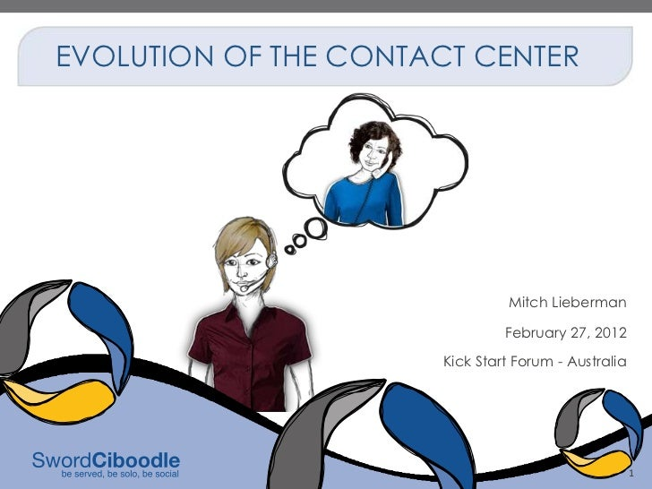 EVOLUTION OF THE CONTACT CENTER                               Mitch Lieberman                               February 27, 2...