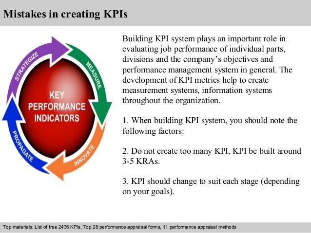 Mistakes in creating KPIs  Building KPI system plays an important role in  evaluating job performance of individual parts,...