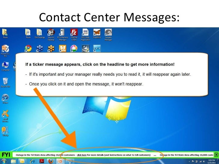 Contact Center Messages: <br />