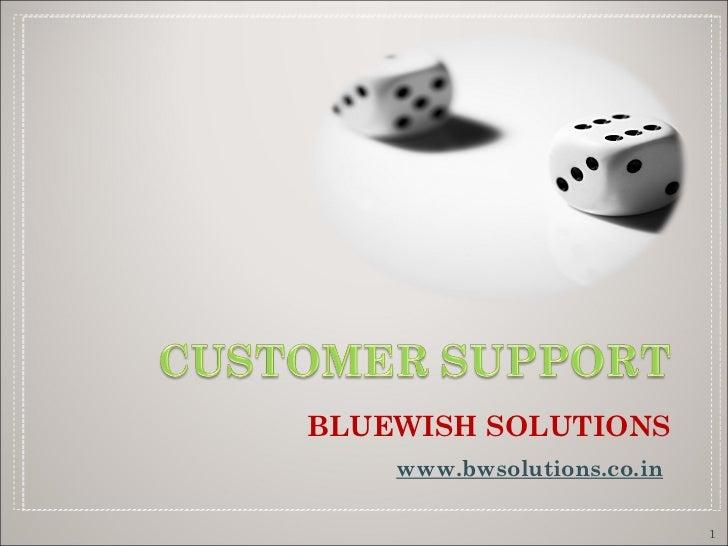 <ul><li>BLUEWISH SOLUTIONS </li></ul><ul><li>www.bwsolutions.co.in   </li></ul>
