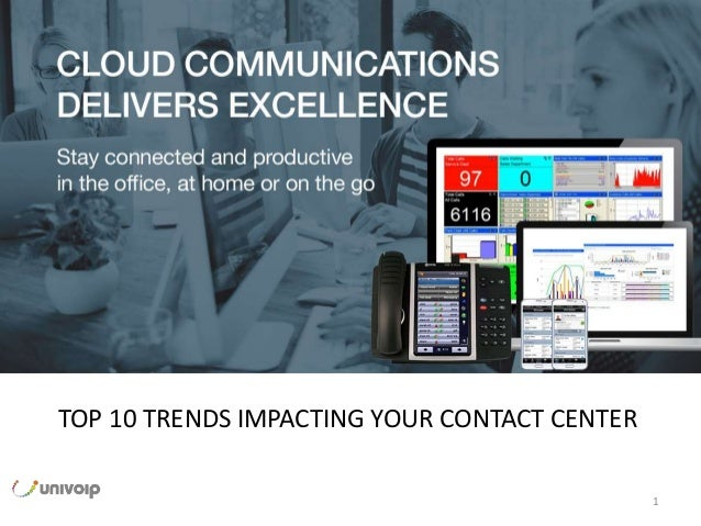 1 Nonprofit Webinar Series The next generation of communications. TOP 10 TRENDS IMPACTING YOUR CONTACT CENTER