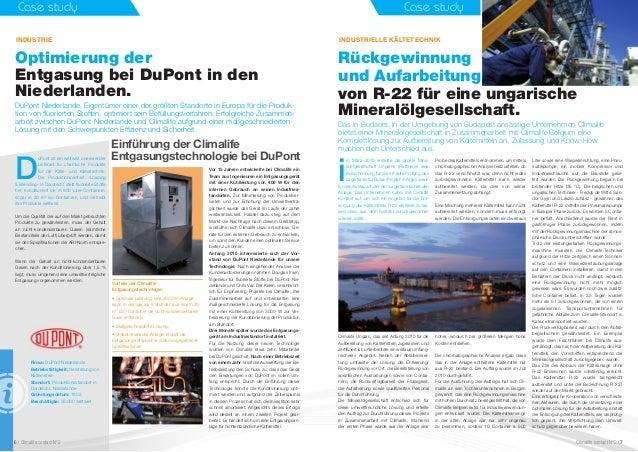 Case study Optimierung der Entgasung bei DuPont in den Niederlanden. DuPont Niederlande, Eigentümer einer der größten Stan...