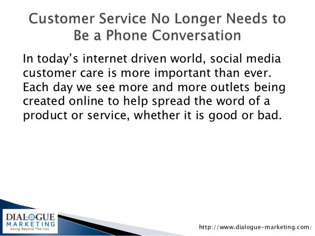 In today's internet driven world, social mediacustomer care is more important than ever.Each day we see more and more outl...