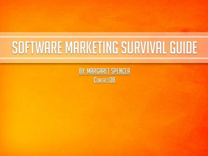 Software Marketing Survival Guide