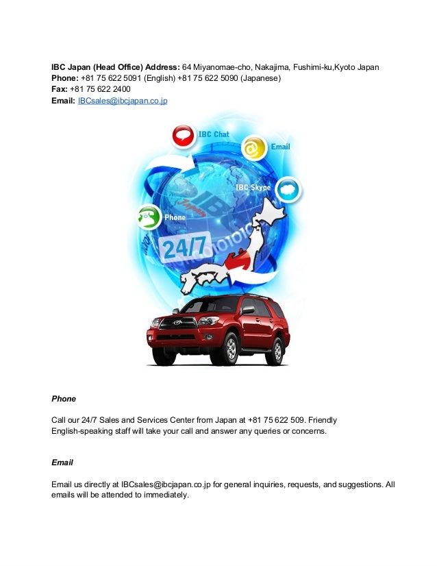 IBCJapan(HeadOffice)Address:64Miyanomaecho,Nakajima,Fushimiku,KyotoJapanPhone:+81756225091(English)+8175...