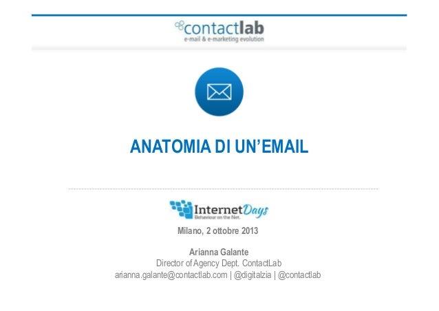 Arianna Galante Director of Agency Dept. ContactLab arianna.galante@contactlab.com   @digitalzia   @contactlab Milano, 2 o...