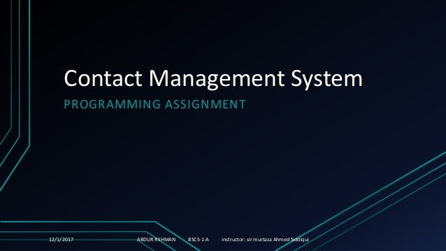 Contact management system , phone book management system